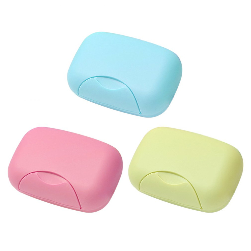 Travel Handmade Soap Box Soap Case Dishes Waterproof Leakproof Soap Box With Lock Box Cover Bathroom Storage Accessory