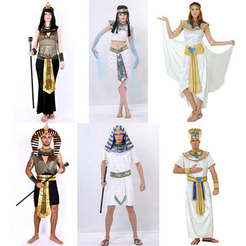 Umorden Halloween Costumes Ancient Egypt Egyptian Pharaoh King Empress Cleopatra Queen Costume Cosplay Clothing for Men Women han dynasty empress wu zetian cosplay hair empress hair tang empress hair chinese ancient hair for women