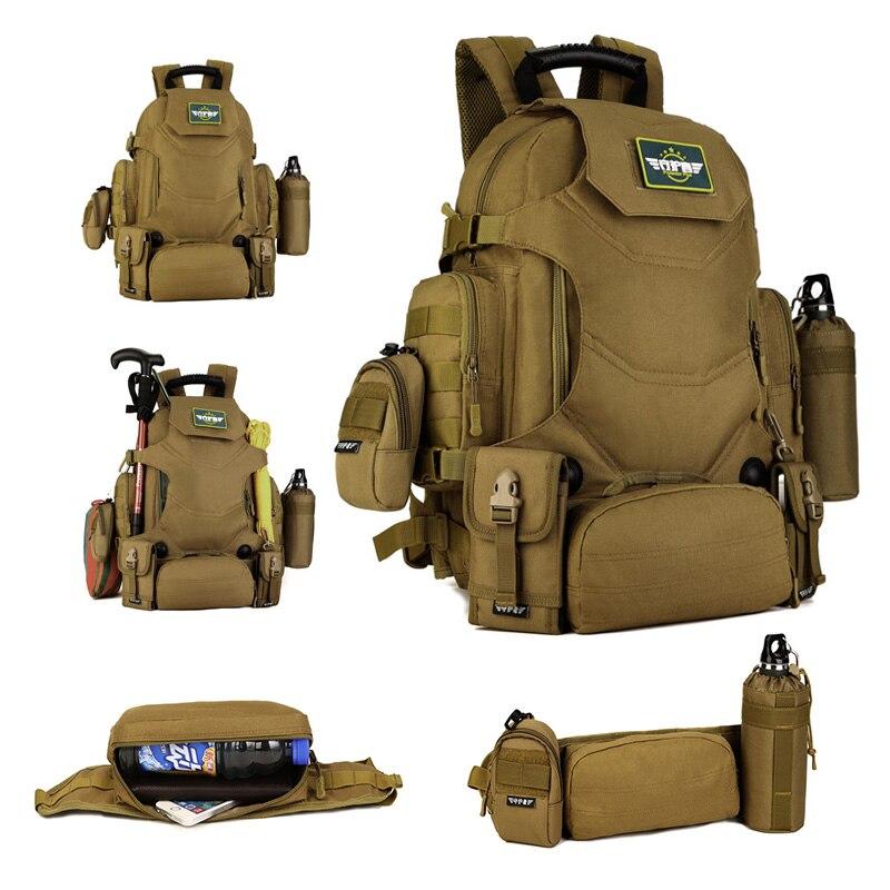 40L sac à dos tactique 2 en 1 sacs militaires armée sac à dos sac à dos Molle sac de Sport en plein air hommes Camping randonnée voyage escalade sac