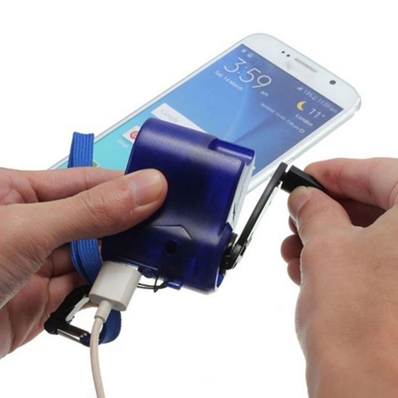 USB Hand-winding Emergency Charger Hand Manual Dynamo For MP3 MP4 Mobile PDA Cell Phone Power Bank Emergency Charging