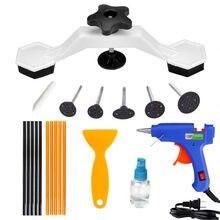 Kit de ferramentas para carro paintless dent repair tool kit remoção de granizo dent automático extratores ventosa dent puxando ponte reparação do carro