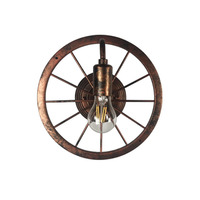 reative Retro Style Wheel Wall Sconce Vintage Iron Lamp Loft Aisle Hotel Bar Cafe Doorway Attic Corridor Industrial Metal Light