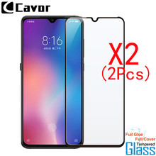 2Pcs Tempered Glass For Xiaoimi Mi 9 Lite Case Full Cover Glass Mobile