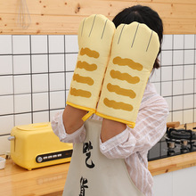 Microwave Oven Baking-Gloves Kitchen High-Temperature Polyester-Gloves Anti-Scalding