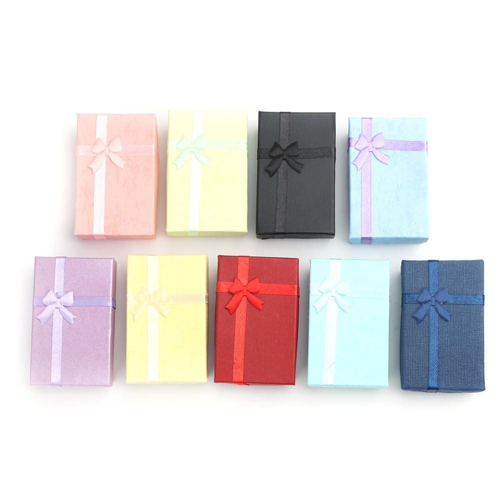 4 шт., бумажные подарочные коробки для ювелирных изделий, 8,1x5,2 см