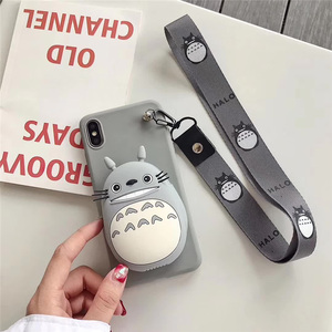 Image 5 - 3D Coreano Bonito Urso Pacote de Emoticon Coelho Totoro Caso de Telefone Carteira Para o iphone X XS MAX XR 6 6s 7 8 além de Capa de Silicone Macio