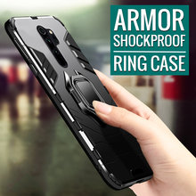 Shockproof Armor Case on For xiaomi Redmi note 8 pro 7 7A Magnetic Car Holder Ring for redmi 6 5 4x Cover Coque