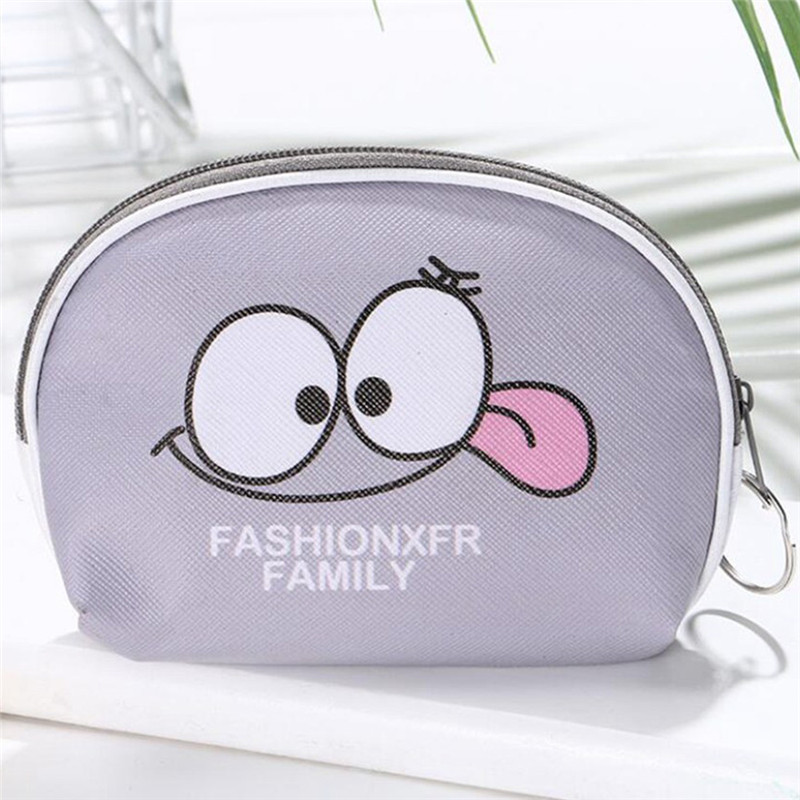 Vogvigo Cartoon Smiley Face Coin Purses PU Leather Kids Holder Mini Wallet Money Storage Bag Key Case Girl Child Zipper Pouch in Coin Purses from Luggage Bags