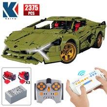 2375PCS City Elektrische RC Sport Auto Bausteine Creator hohe-tech APP Fernbedienung Racing Fahrzeug Ziegel Spielzeug für Kinder