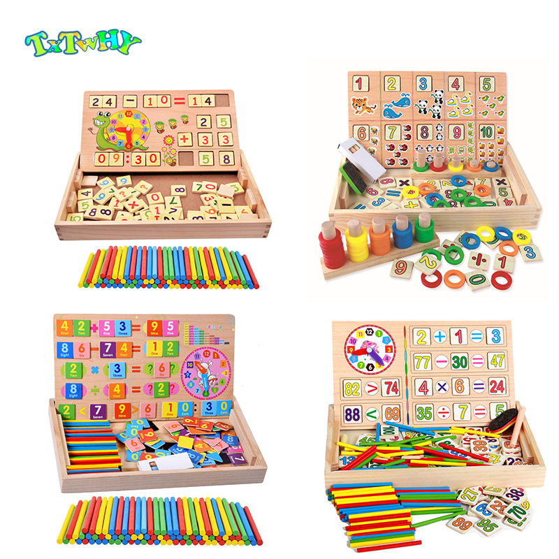 Montessori Wooden Math Kids Toys For Children Preschool Montessori Materials Sensory Toys Montessori Educational Wooden Gift