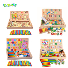 Montessori Wooden Math Kids Toys For Children Preschool montessori materials sensory toys montessori educational wooden gift jwlele wooden montessori toys digital abacus alarm clock educational toys for children wooden blocks kids toys