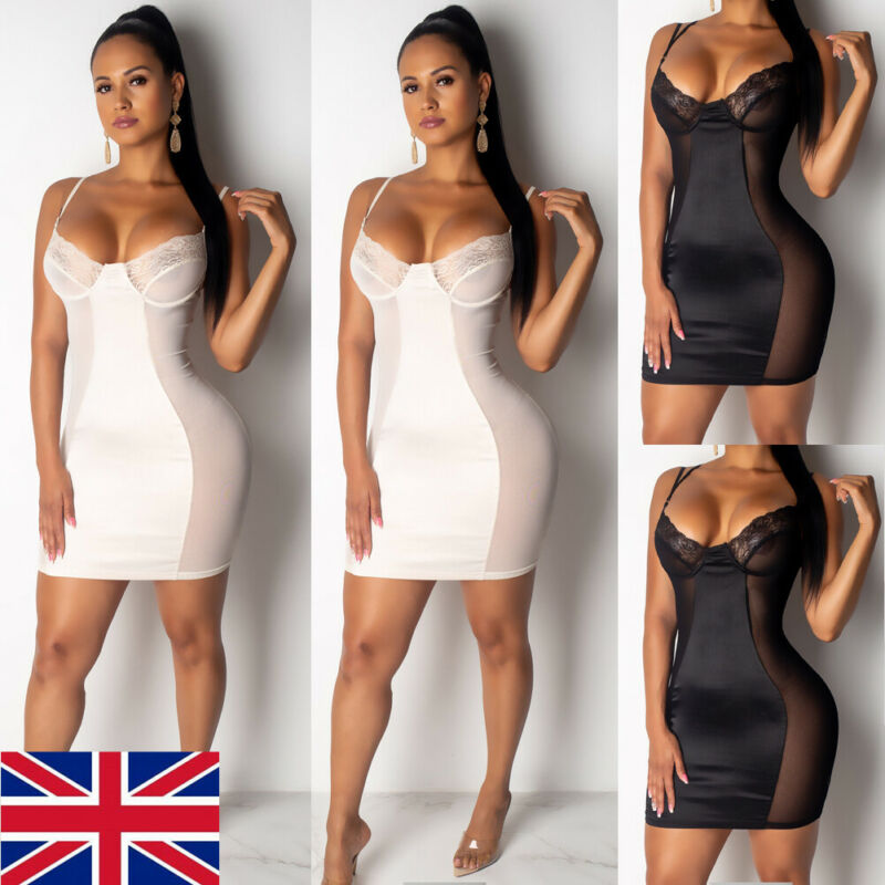 <font><b>Sexy</b></font> Women Bandage <font><b>Mini</b></font> <font><b>Dress</b></font> <font><b>Lace</b></font> Floral <font><b>Female</b></font> Bodycon Sleeveless Evening <font><b>Party</b></font> Club Sheer Mesh <font><b>Mini</b></font> <font><b>Dress</b></font> image