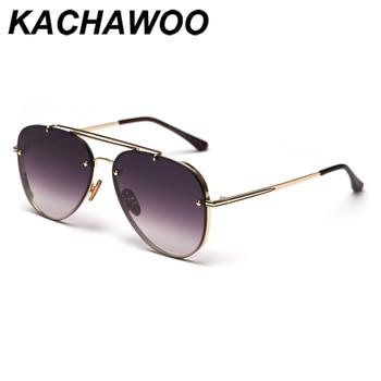 Kachawoo gafas de sol cuadradas polarizadas uv400 gafas de sol de color naranja negro metal de alta calidad accesorios de conducción para mujer