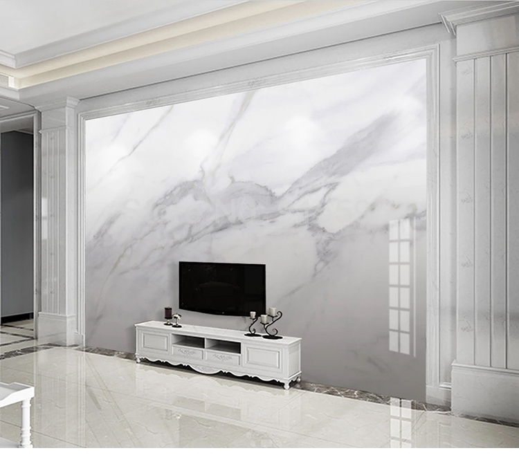 3D Grey Clouds Modern Grey Marble Wallpaper