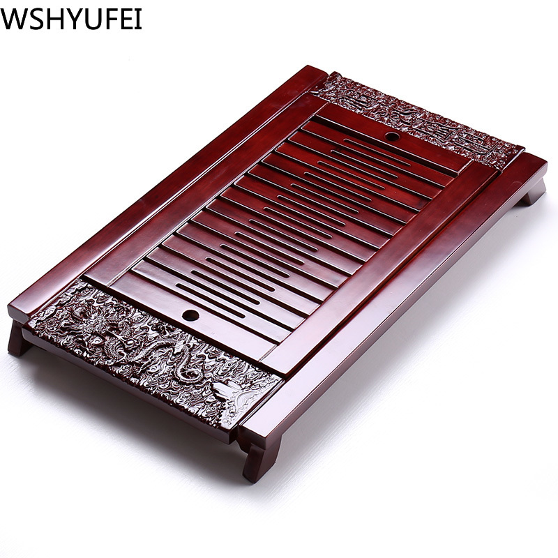 The New Chinese Solid Wood Tea Set Tray Is Not Easy To Corrode Kung Fu Tea Set Office Household Tea Set Accessories WSHYUFEI