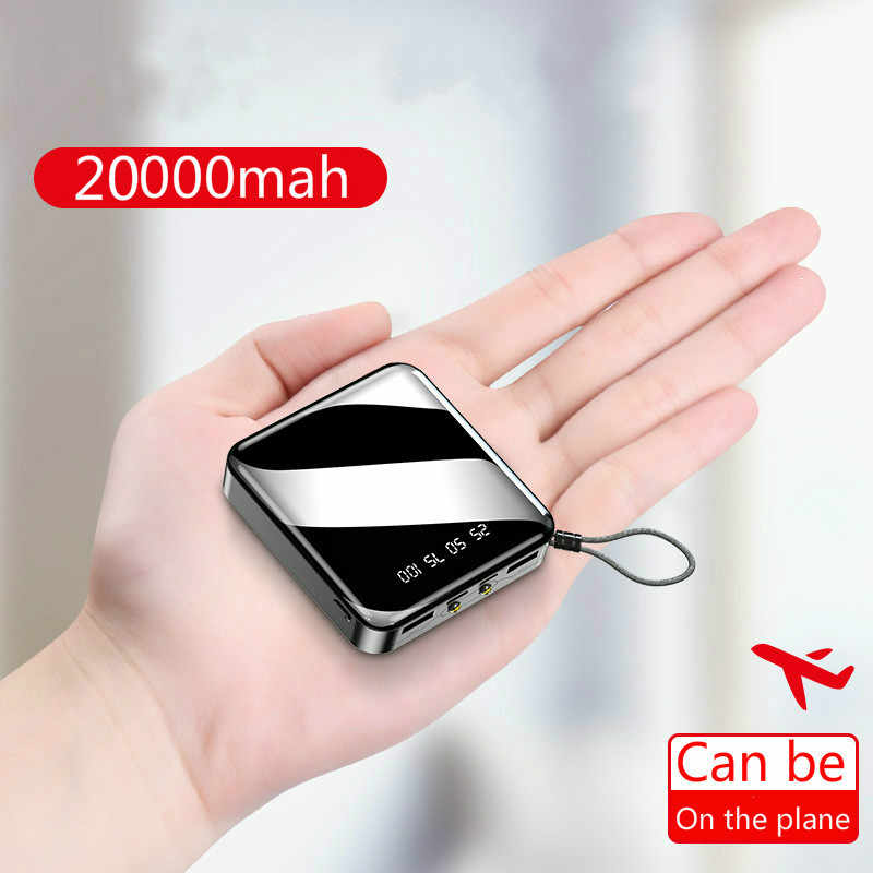 20000mAh Power Bank für Alle smartphones mini Power Pover Bank Ladegerät Dual Usb Ports Externe Batterie Poverbank Tragbare