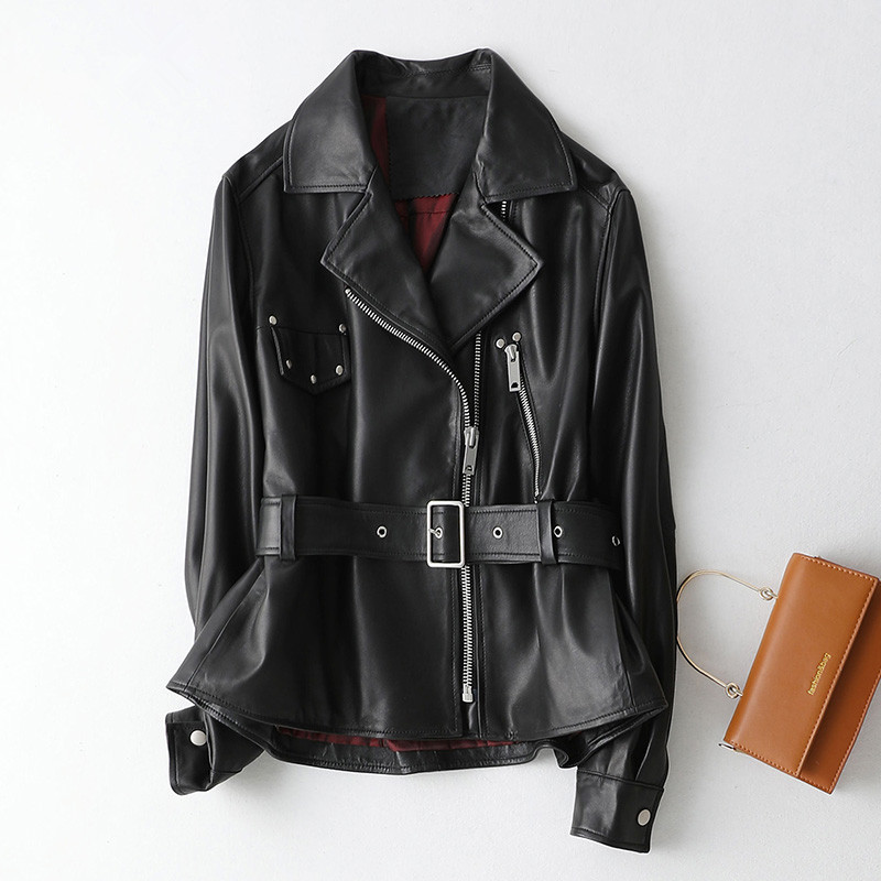 Autumn Jacket Leather Winter Jacket Women Clothes 2020 Genuine Sheepskin Coat Female Bomber Jackets Veste Femme KQN69115 S