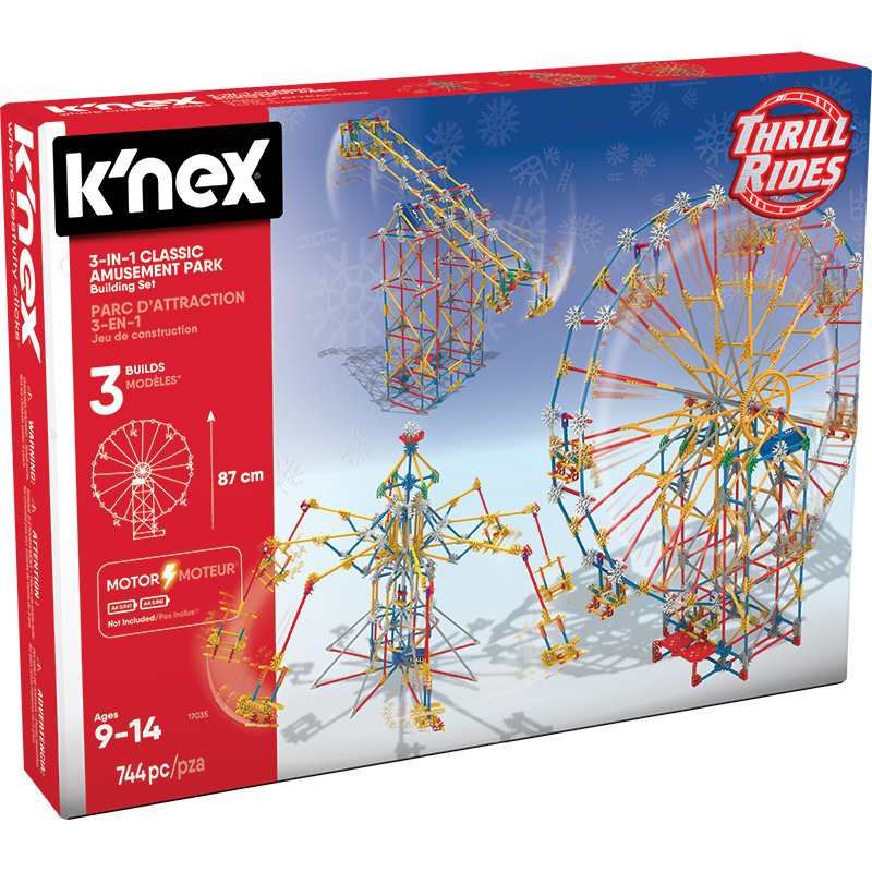 [Special Offer] America KNEX Kelor Si Amusement Park Roller Coaster 17035/Spider Roller Coaster 45717