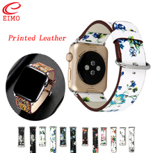 Floral Printed Leather strap for Apple Watch 4 band 44mm 40mm correa apple watch 42mm 38 mm iwatch series 4/3/2/1 watchband belt цена
