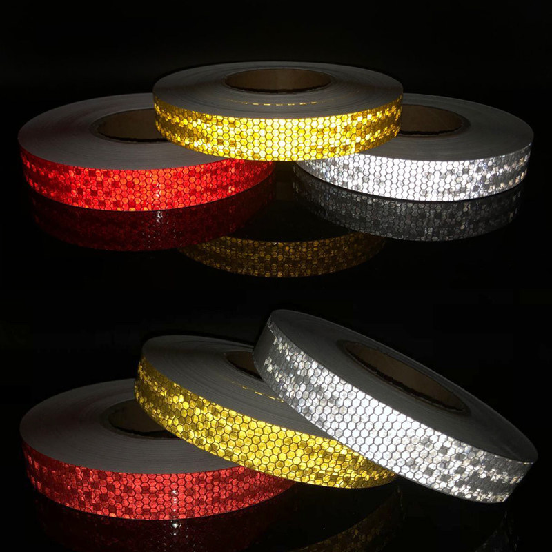 Safety Mark Reflective Tape Stickers Car-styling Self Adhesive Warning Tape Automobiles Film