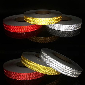 Safety Mark Reflective Tape Stickers Car-styling Self Adhesive Warning Tape Automobiles Film 5cmx3m safety mark reflective tape stickers car styling self adhesive warning tape automobiles motorcycle reflective material