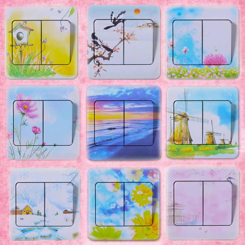 5 قطعة عالية الجودة البلاستيكية التبديل ملصقات غرفة نوم مقاومة للماء ملصقات حائط مناسبة لغرفة المعيشة ديكور المنزل غرفة الأطفال ملصقات