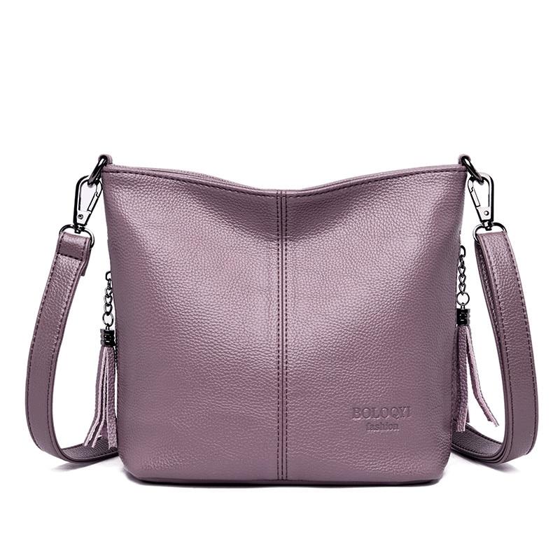 Small Crossbody Bags For Women Soft Leather Tassel Luxury Handbags Women Bags Designer Female Shoulder Messenger Bag Sac A MainShoulder Bags   -