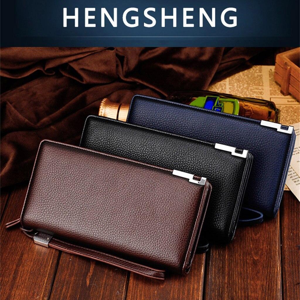 Minimalist Wallet Card-Holder Clutch-Bag-Card Multi-Function Men Long Package Casual