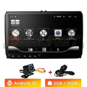 Car Multimedia player Android 10 GPS 2 Din Car Autoradio Radio For VW/Volkswagen/Golf/Polo/Passat/b7/b6/SEAT/leon/Skoda Mic SWC image