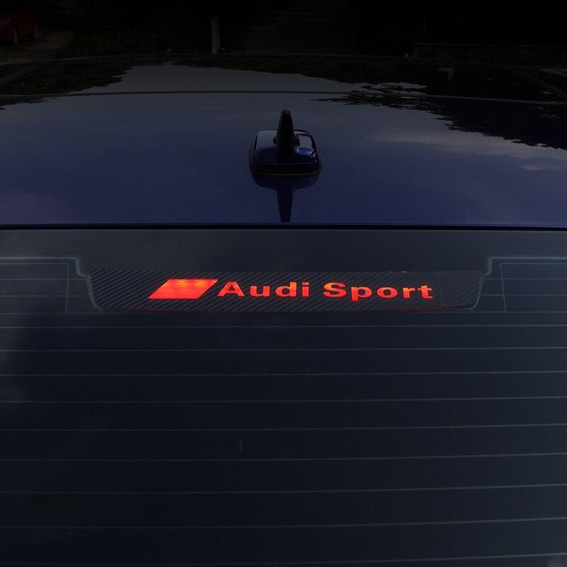 Car Carbon Fiber Brake Light Decoration Sticker Car Sticker Cool Decals For Audi A4L/A6L/A3/A5 Car Styling Moulding