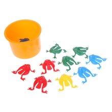 Новинка 12 шт прыгающие лягушки в ассортименте игрушка бункер