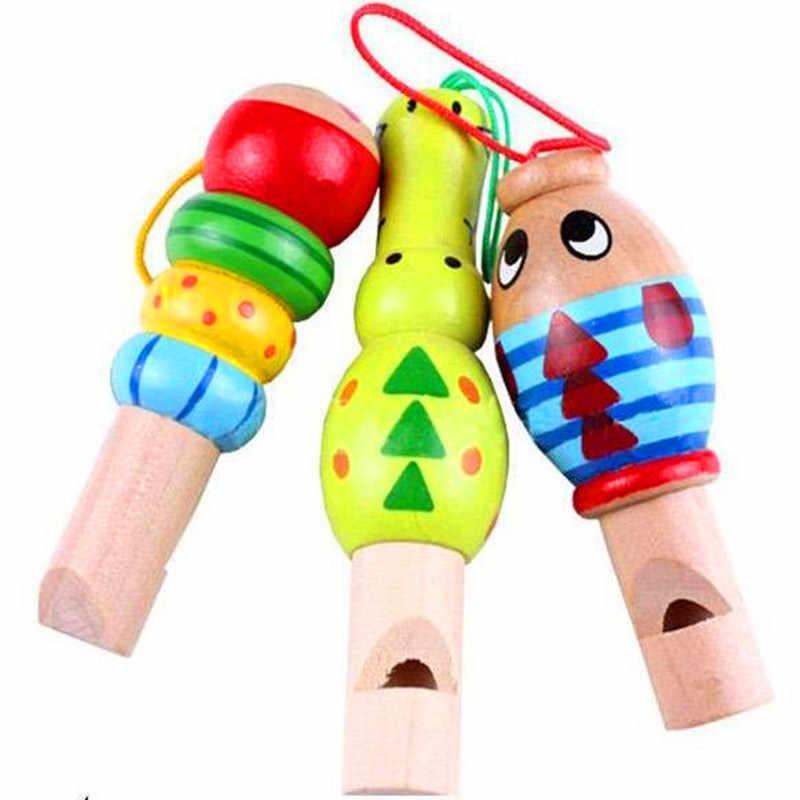 動物木のおもちゃ漫画の動物の笛キーハンガー早期教育楽器玩具のためのランダムな色 2020