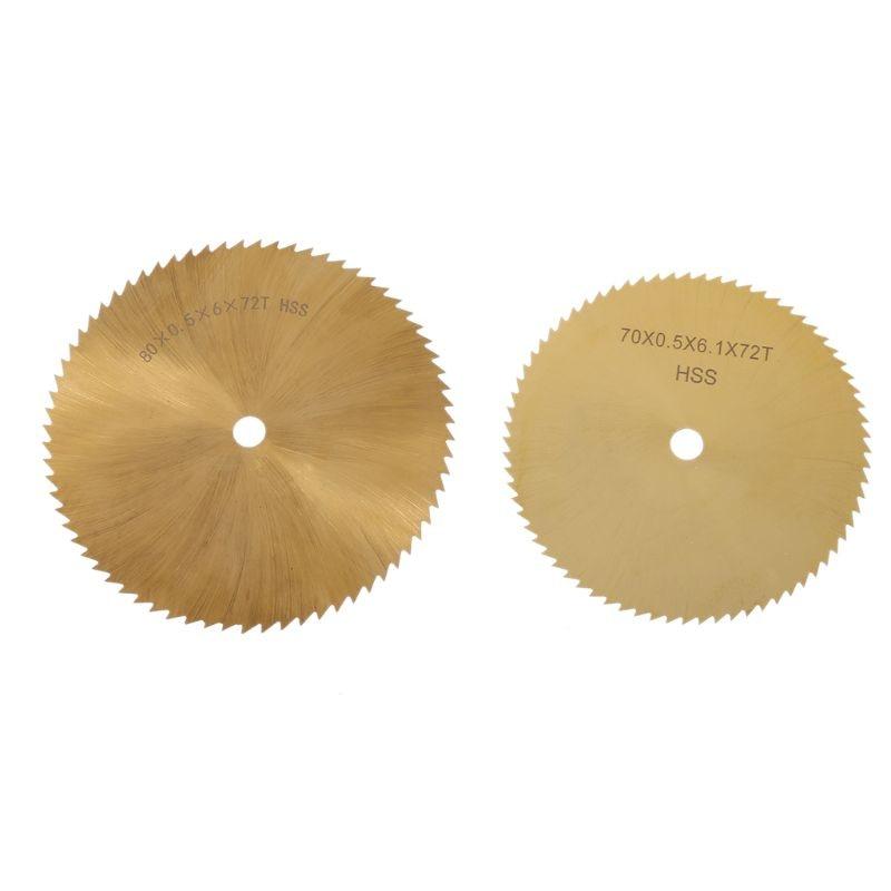 70/80mm HSS TI-coated Circular Saw Blade Metal Woodworking Plastic Cutting  6mm Qyh