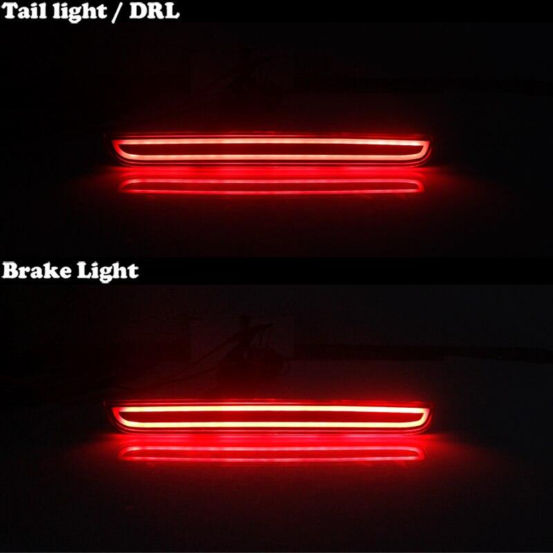 Image 5 - IJDM ثلاثية الأبعاد البصرية نمط كامل LED المصد الخلفي عاكس مجموعة إضاءة ل 2015 متابعة دودج تشالينجر ، وظيفة كما الذيل أو الخلفية مصابيح الضبابمصباح إشارة   -