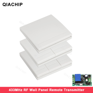 QIACHIP 86 Wall Panel Wireless Remote Transmitter 1 2 3 Button RF Switch For Light Lamp Bulb Home Living Room Bedroom Corridor(China)
