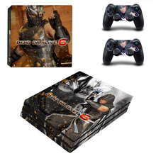 Dead Or Rlive 6 Style Skin Sticker for PS4 Pro Console And Controllers Decal Vinyl Skins Cover YSP4P-3284