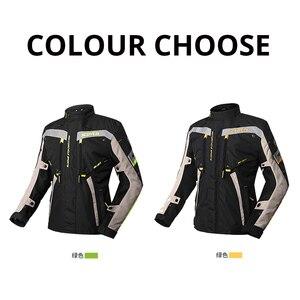 Image 2 - Мужская водонепроницаемая мотоциклетная куртка SCOYCO, мотоциклетный костюм Chaqueta, куртка для мотокросса со съемной защитой от Linner Moto