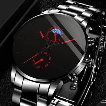 Reloj Hombre Luxury Fashion Business Men Watches Classic Black Stainless Steel Analog Quartz Wrist Watch Relogio Masculino orlando luxury men watch stainless steel quartz wristwatches business men watches relogio masculino reloj hombre erkek kol saati