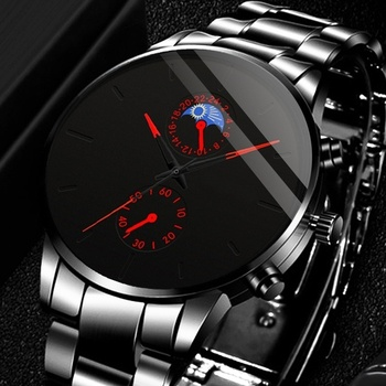 reloj hombre Luxury Fashion Business Men Watches Classic Black Stainless Steel Analog Quartz Wrist Watch relogio masculino weide wh 1009 br stainless steel analog led digital quartz waterproof wrist watch black red