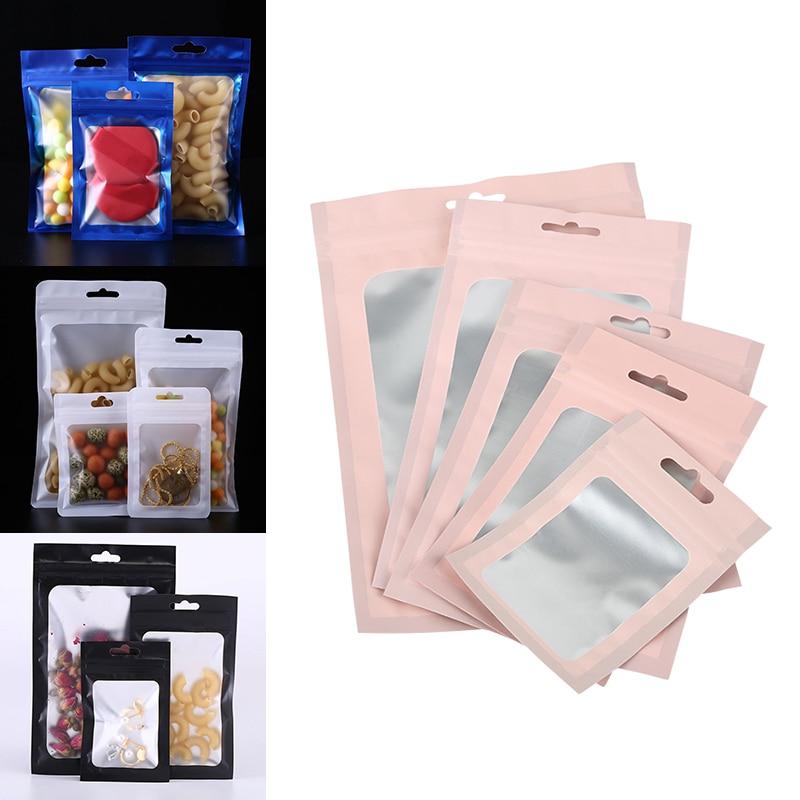 20 шт. матовые пакеты на молнии с голограммой из алюминиевой фольги, водонепроницаемая сумка на молнии для хранения ювелирных изделий, сумки ...