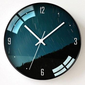 Silent Modern Design Wall Clock Electronic Galaxy Creative Wall Clock Acrylic Mirror Living Room Reloj Pared Home Decor JJ60WC