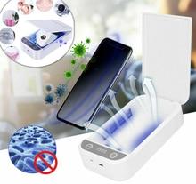 Fashion UV Disinfection Box Sanitizer Charger Prevent Flu For smart Phone Headphones Mask Sterilizer Kill 99.9% Viruses