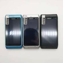 """Nokia N8 мобильный телефон 3g wifi gps 12MP камера 3,"""" сенсорный экран 16 Гб хранилище дешевый телефон Восстановленный"""