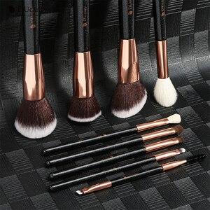 Image 5 - Набор кистей для макияжа DUcare, 9 шт., профессиональные кисти из козьей шерсти, основа пудра Контур, тени для век, искусственные
