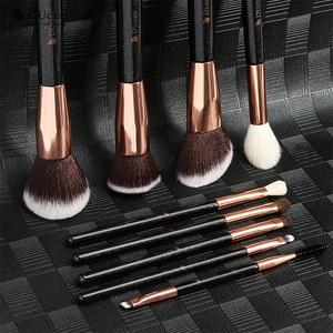 Image 5 - DUcare 9PCS Makeup Brushes Set Professional Natural Goat Hair Brushes Foundation Powder Contour Eyeshadow Make up Brushes Set