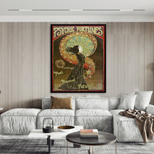 Toile avec impression de cirque, gitane, gitane, mythologie païenne, psychédélique, déesse, Art mural pour décoration de maison, Nouveau
