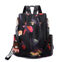 Anti-theft Backpack Female 2019 New Fashion Oxford Cloth Waterproof Ladies Printing Travel Bag