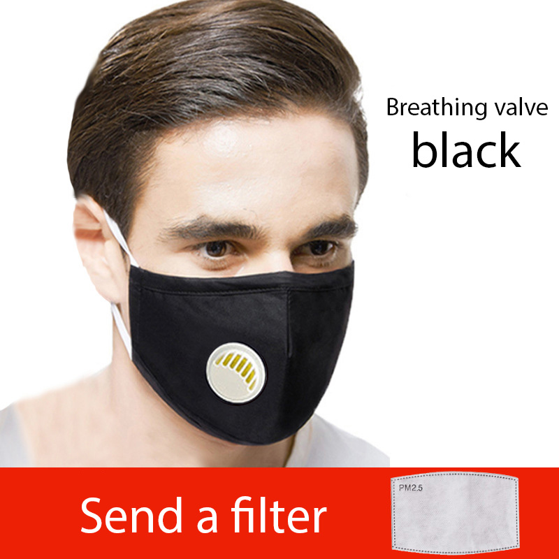 PM2.5 Mouth Mask Cotton Face Mask Anti-dust Anti-mist Anti-haze Protective Mouth Mask Dust Respirator Unisex Anti-Virus Mask