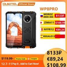 OUKITEL WP8 Pro NFC Android 10 IP68 téléphone de sport robuste 6.49 ''empreinte digitale 4GB 64GB 5000mAh 16MP Triple caméra