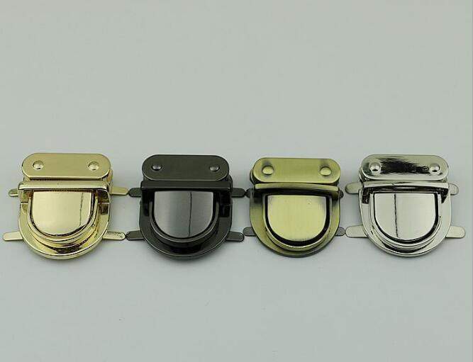 (10 Pcs/lot) Luggage Handbag Hardware Accessories Large Metal Duck Tongue Lock